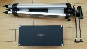 The society's Personal Solar Telescope case and tripod