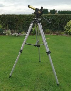 The society's PST, set up on tripod