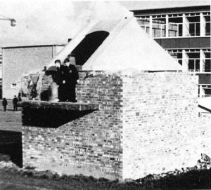 Highfields School Observatory under construction: the official opening was on 20 June 1967