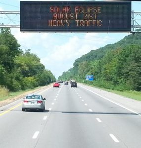 Pic 1 - Solar Eclipse road signs