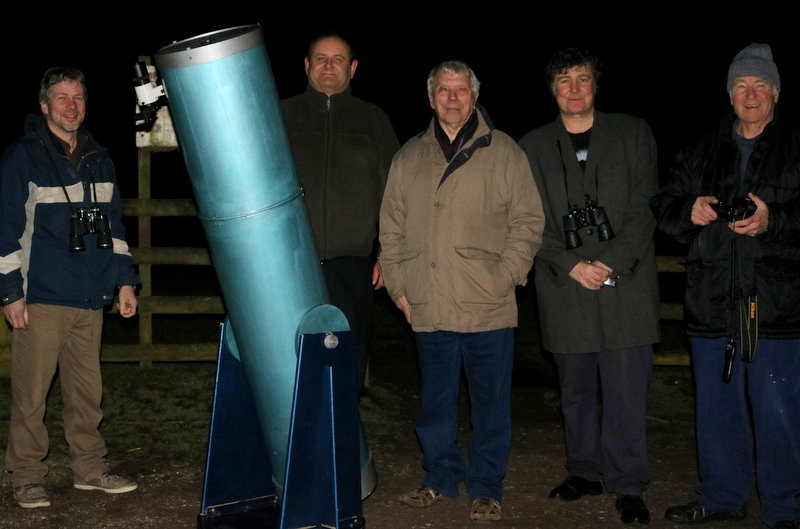 Members with the Tom Collier telescope