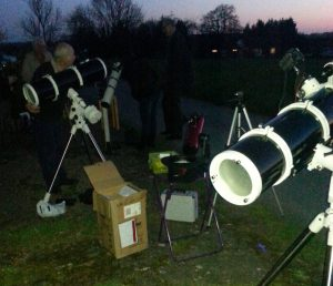 Members setting up at Bobbington
