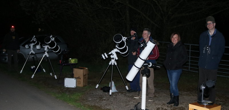 Pic 6: Line of telescopes
