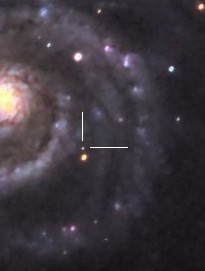 Close up crop of the M51 mystery object