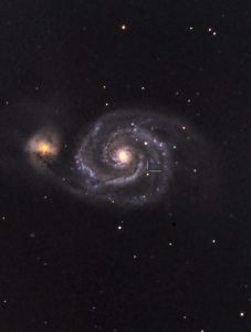 M51 with mystery object