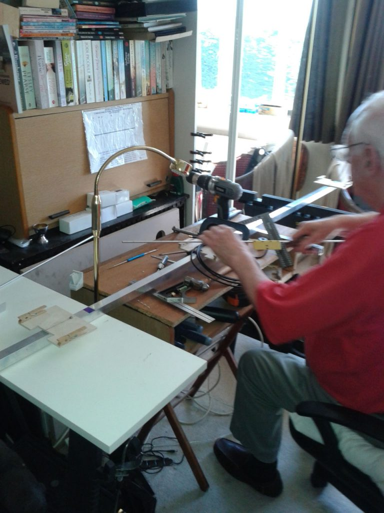 Graham Wall -working on 6 element Yagi