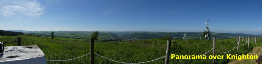 Panorama over Knighton