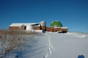 Spaceguard centre in the snow