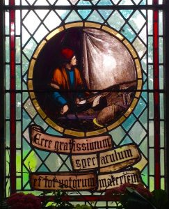 Window in St Michael's Church commemorating Jeremiah Horrocks' observation of transit of Venus 1639