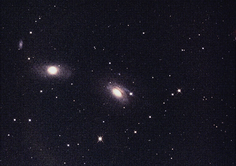 Wide field image of NGC3169 and NGC3166 galaxies from the Faulkes Telescope