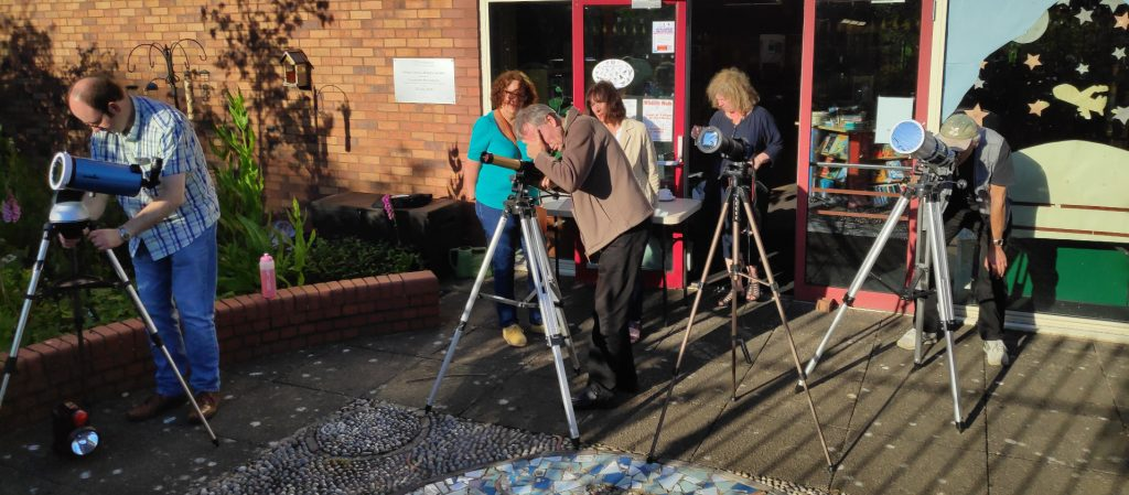 Solar Observing at Perton Library