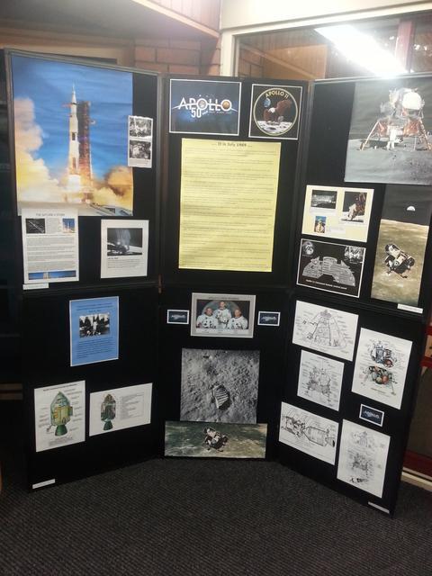 Doug's Apollo display at Perton Library