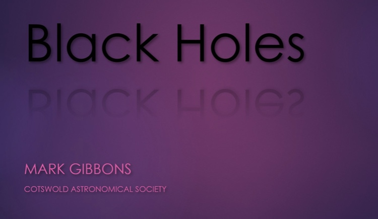 Mark Gibbons - Black holes