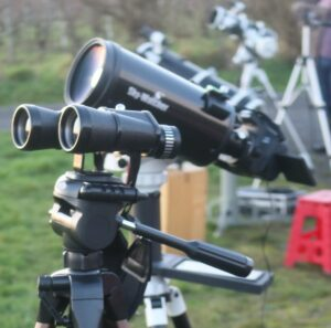 Equipment set up ready to view the conjunction